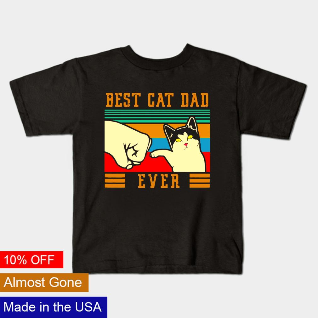 Best cat dad ever vintage Father's day shirt
