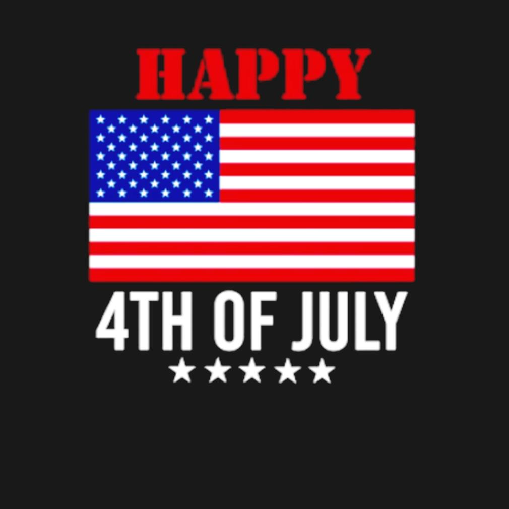 Happy 4th of July American flag s t-shirt