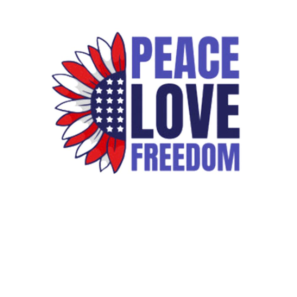 Peace Love Freedom 4th Of July Patriotic s t-shirt