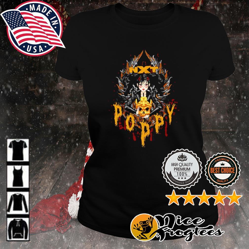 Poppy x Triple H Gold Skull NXT s ladies-tee