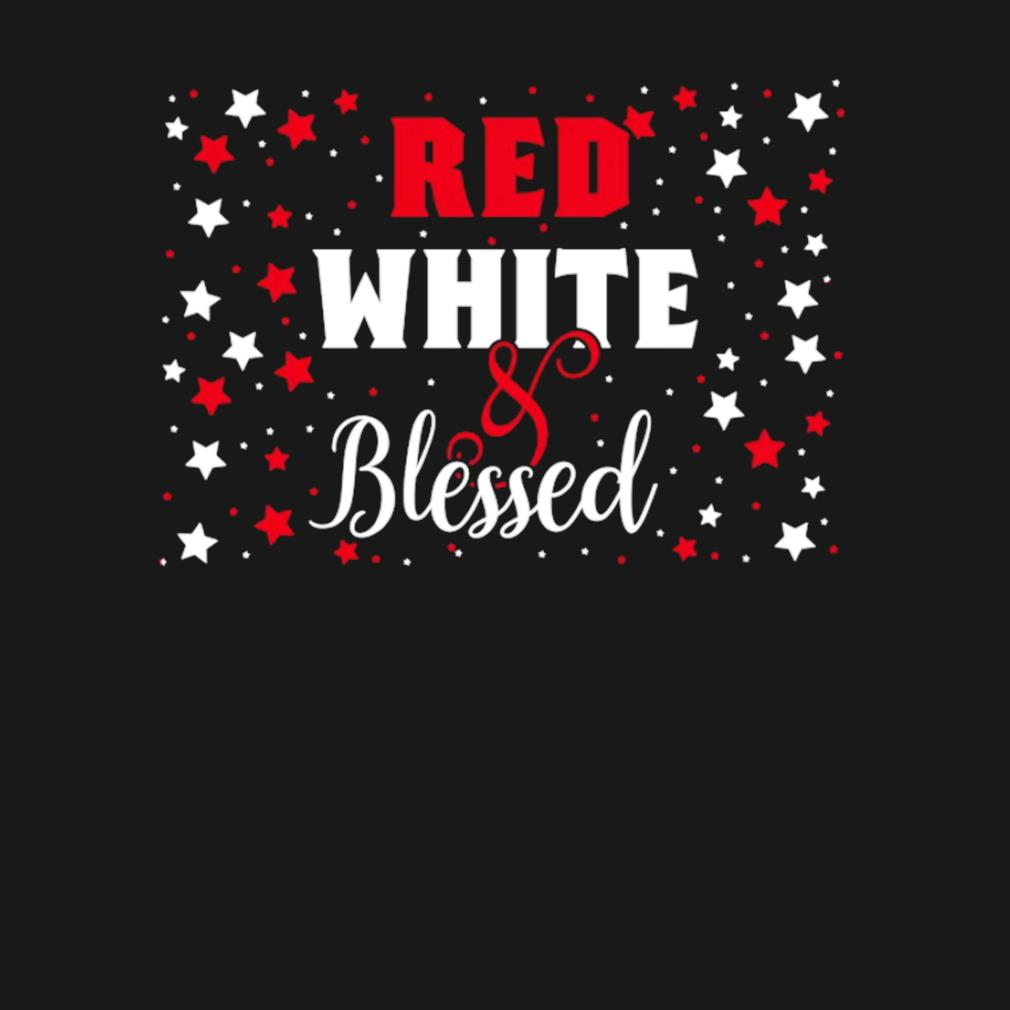 Red White Blessed 4th of July Cute Patriotic America s t-shirt