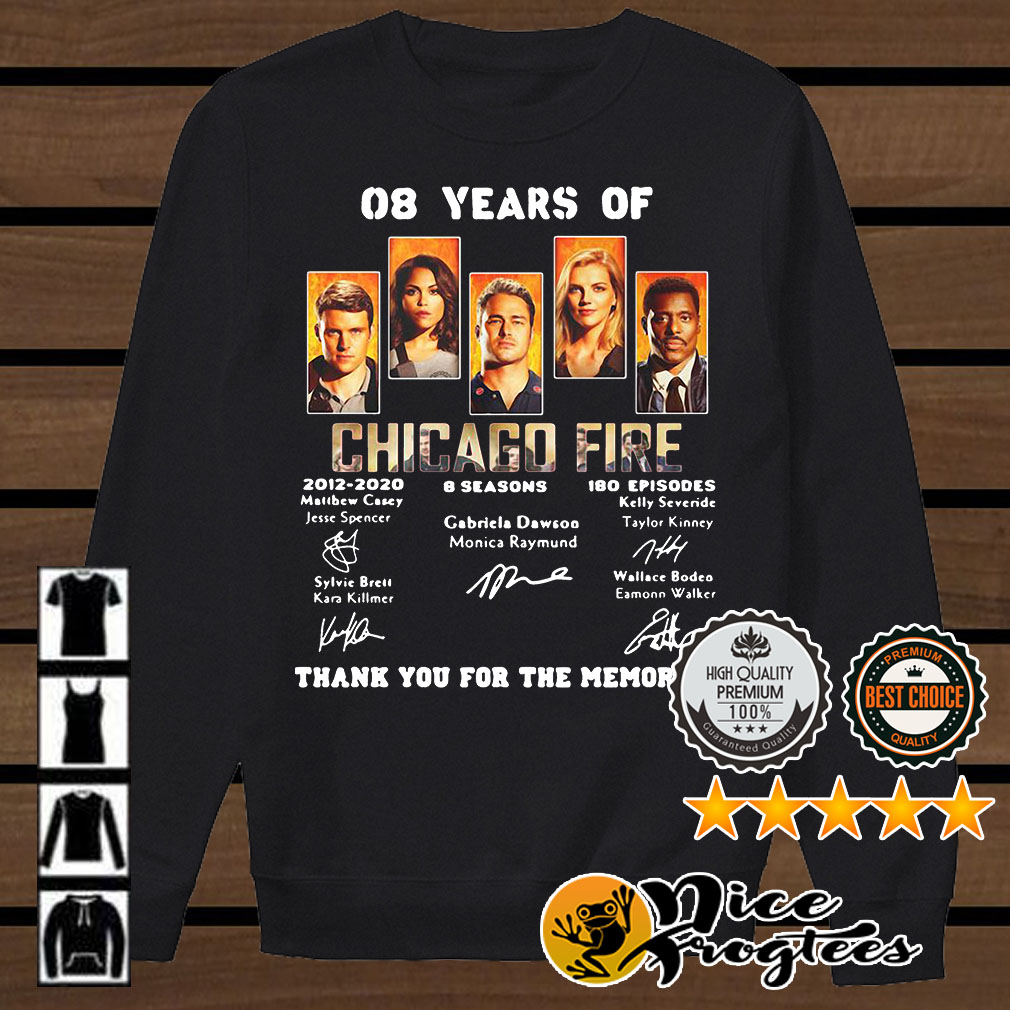08 years of Chicago Fire 2012 2020 8 seasons 180 episodes signature shirt