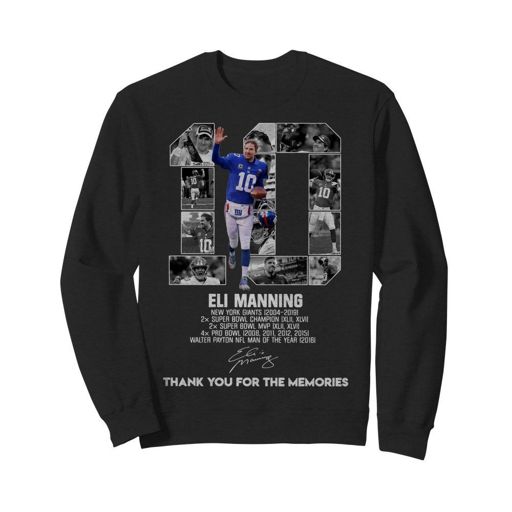 10 Eli Manning New York Giants 2004-2019 super Bowl Champion Sweater