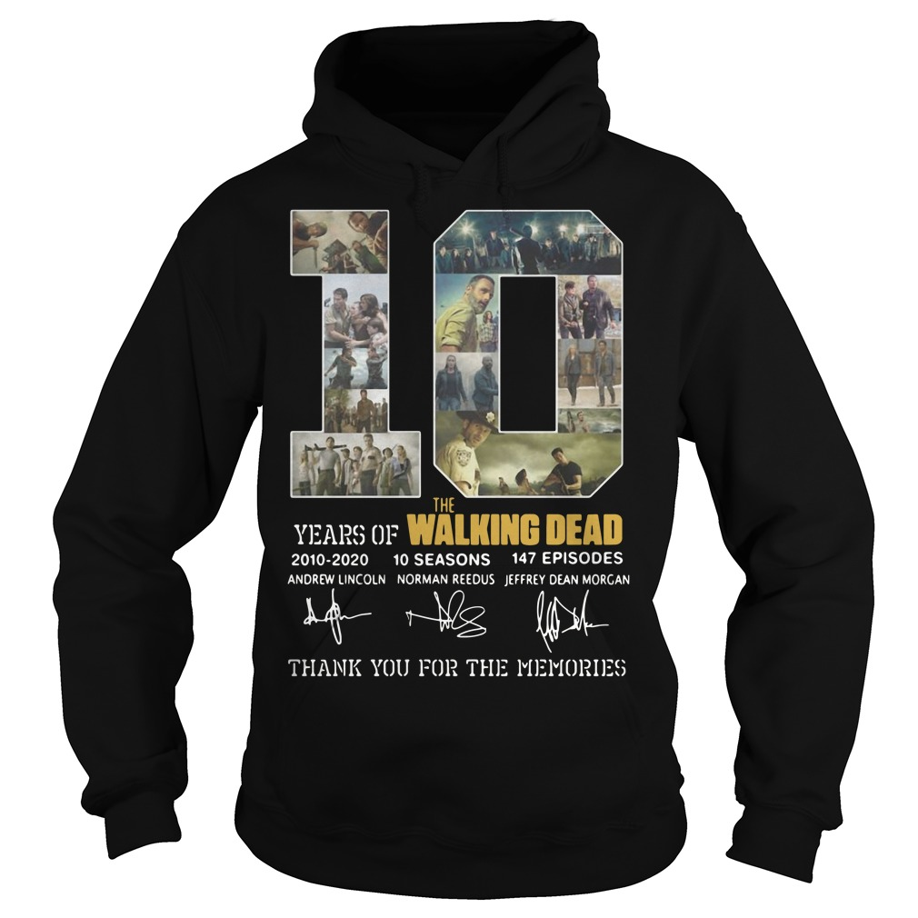 10 years of The Walking Dead 2010 2020 10 seasons 147 episodes signature Hoodie