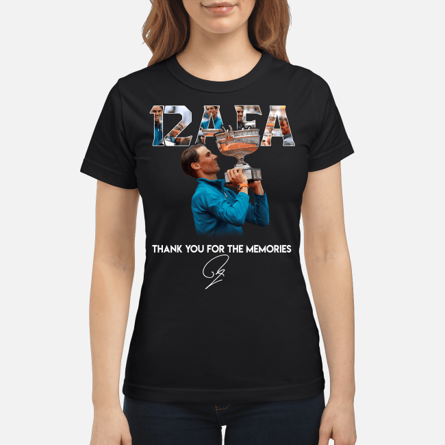 12 AFA Roland Garros thank you for the memories Ladies tee