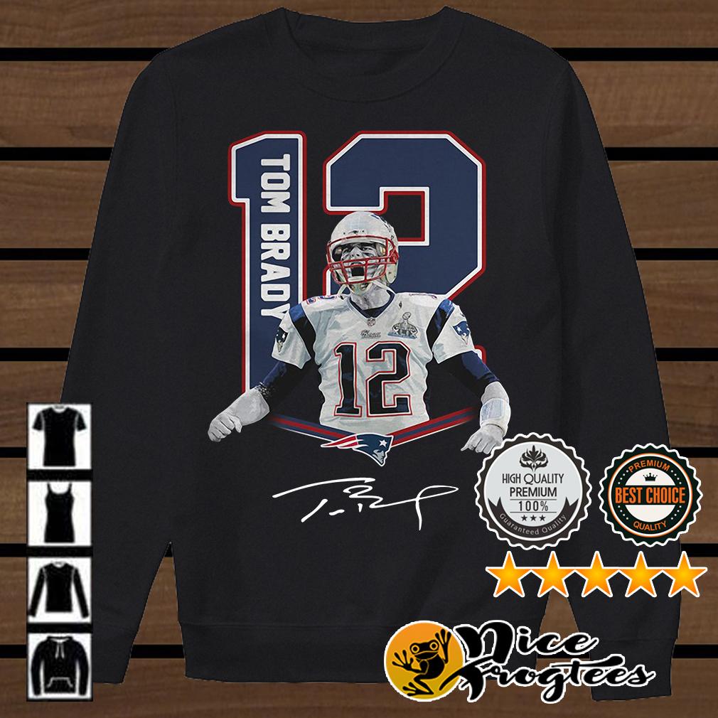 12 Tom Brady New England Patriots signature shirt