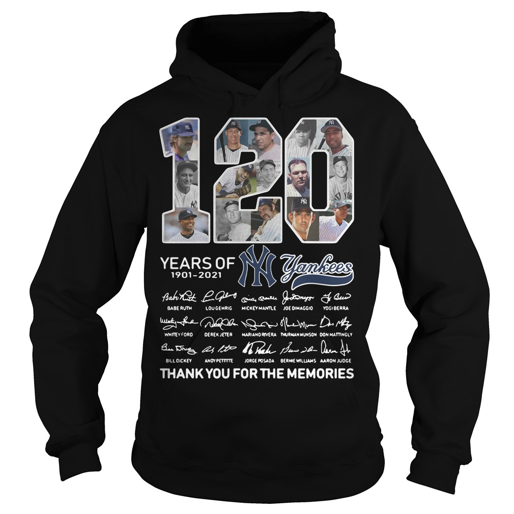 120 years of New York Yankees signature thank you for the memories Hoodie