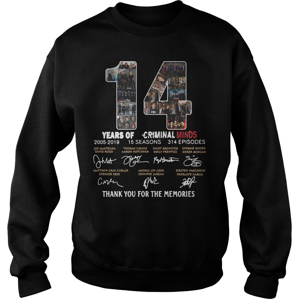 14 years of Criminal Minds 2005 2019 thank you for the memories Sweater