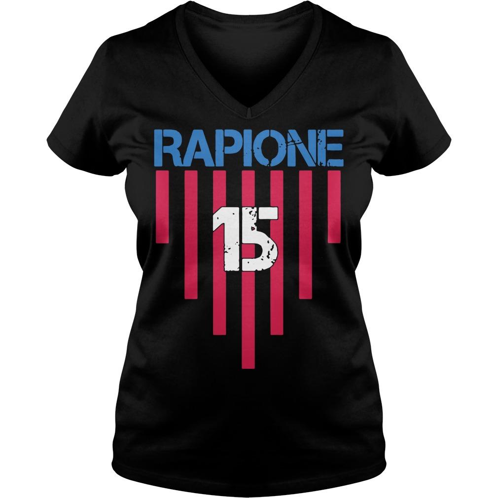 15 Megan Rapinoe Reign FC V-neck t-shirt