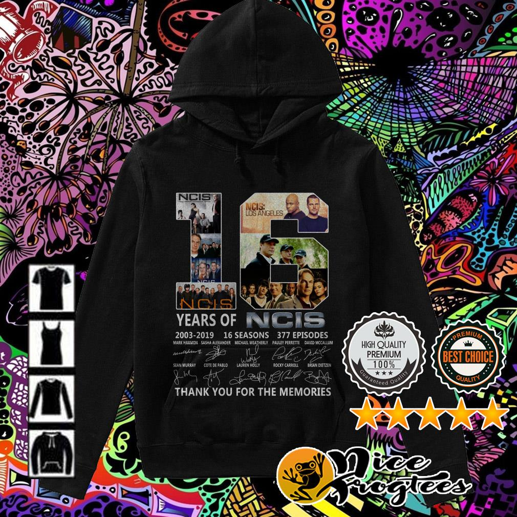 16 years of NCIS 2003-2019 16 seasons thank you for the memories Hoodie