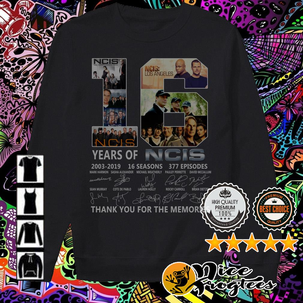 16 years of NCIS 2003-2019 16 seasons thank you for the memories Sweater