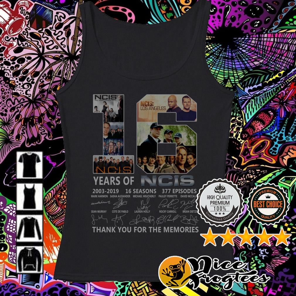 16 years of NCIS 2003-2019 16 seasons thank you for the memories Tank top
