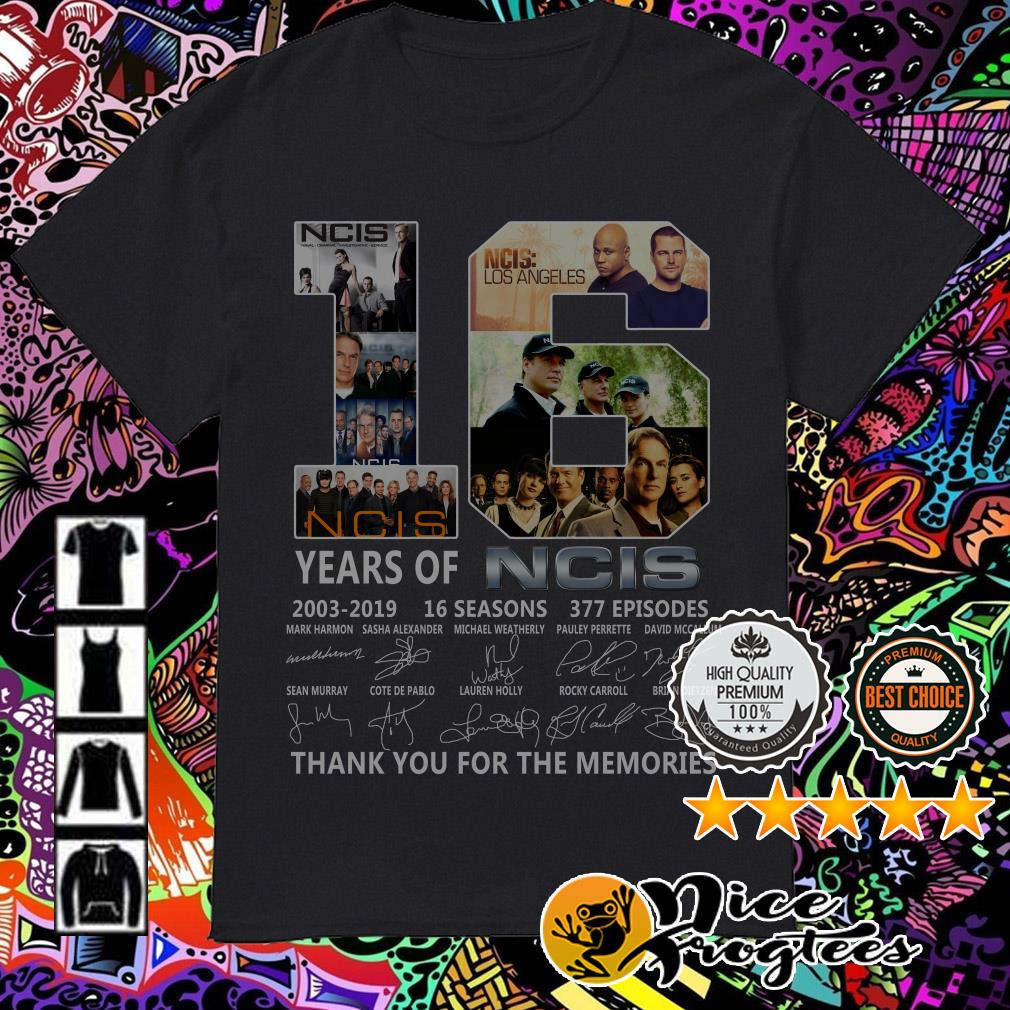 16 years of NCIS 2003-2019 16 seasons thank you for the memories shirt