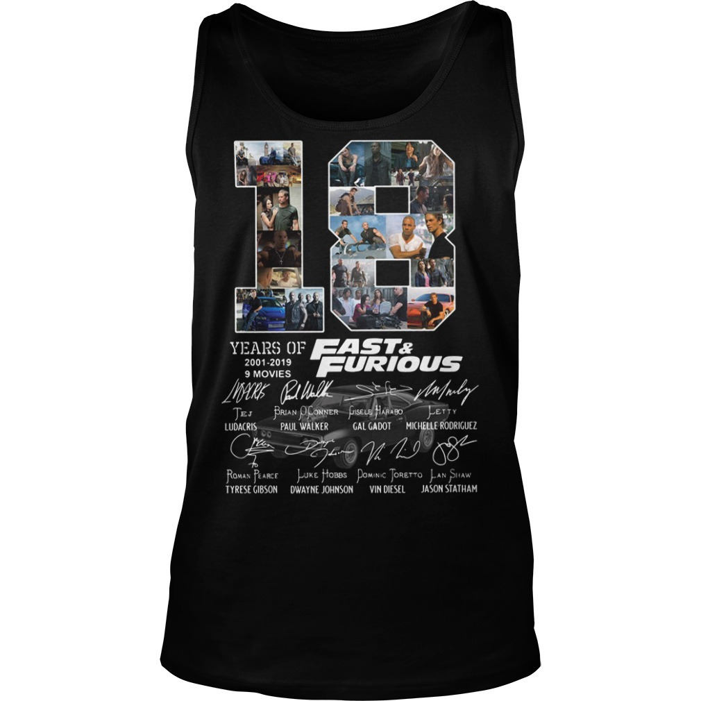 18 Years of Fast and Furious 2001-2019 9 movies signature