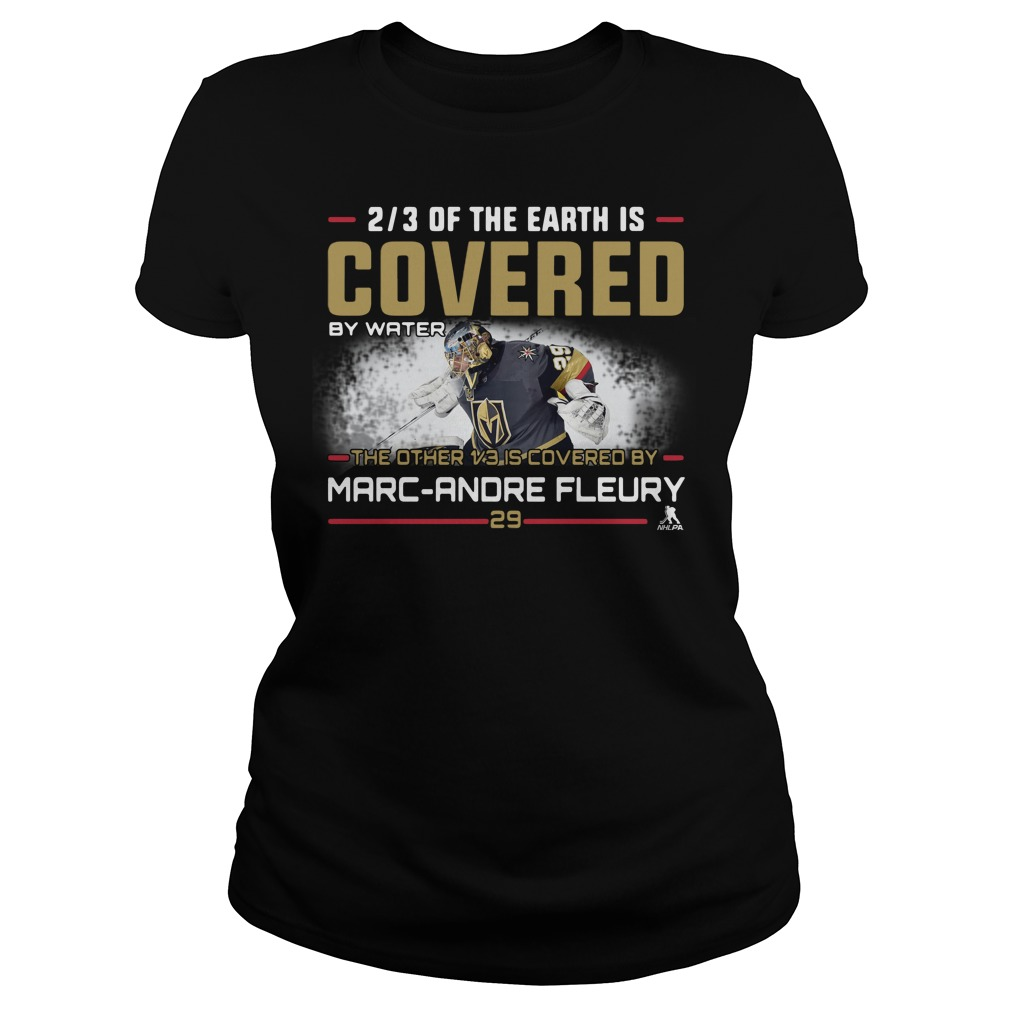 2/3 of the earth is Covered by water the other 1/3 is covered by Marc Ladies tee