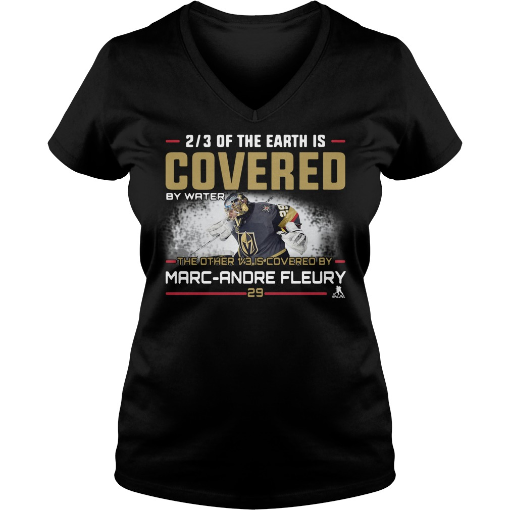 2/3 of the earth is Covered by water the other 1/3 is covered by Marc V-neck t-shirt