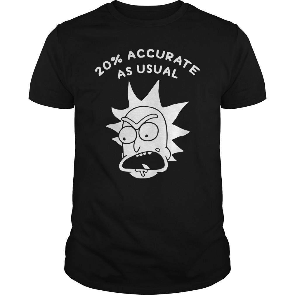 Rick and Morty 20% Accurate as Usual shirt