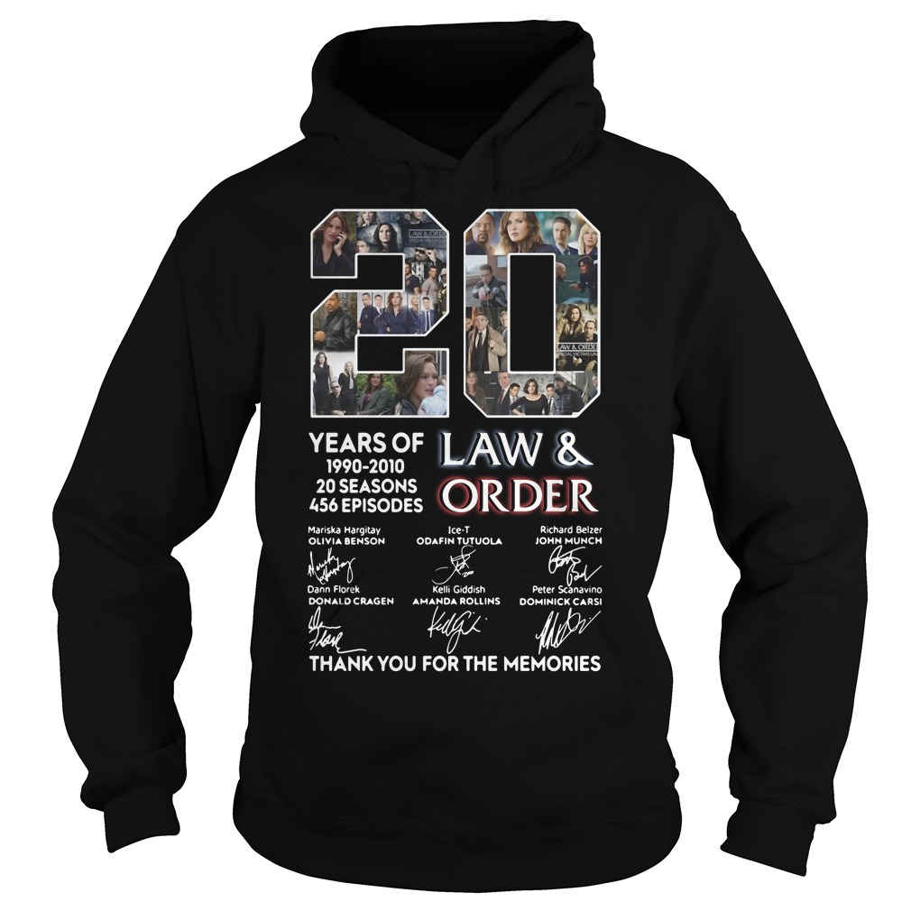 20 years of Law and Order 1990 2010 20 seasons 456 episodes signature Hoodie