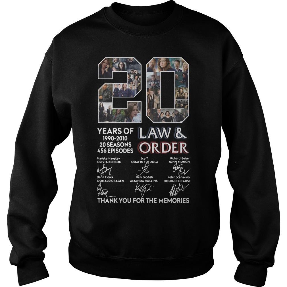 20 years of Law and Order 1990 2010 20 seasons 456 episodes signature Sweater