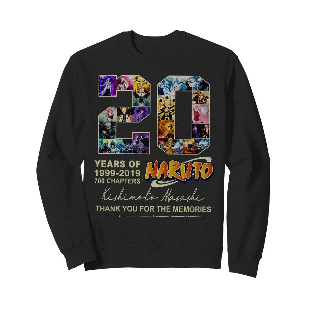 20 Years of Naturo 1999-2019 700 chapters signatures Sweater