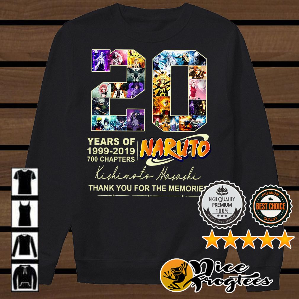 20 Years of Naturo 1999-2019 700 chapters signatures shirt