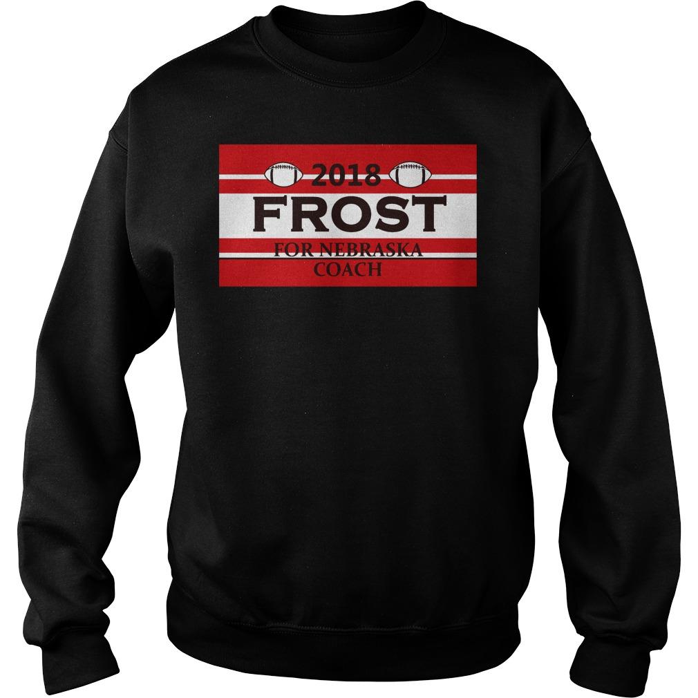 2018 Frost for Nebraska coach Sweater