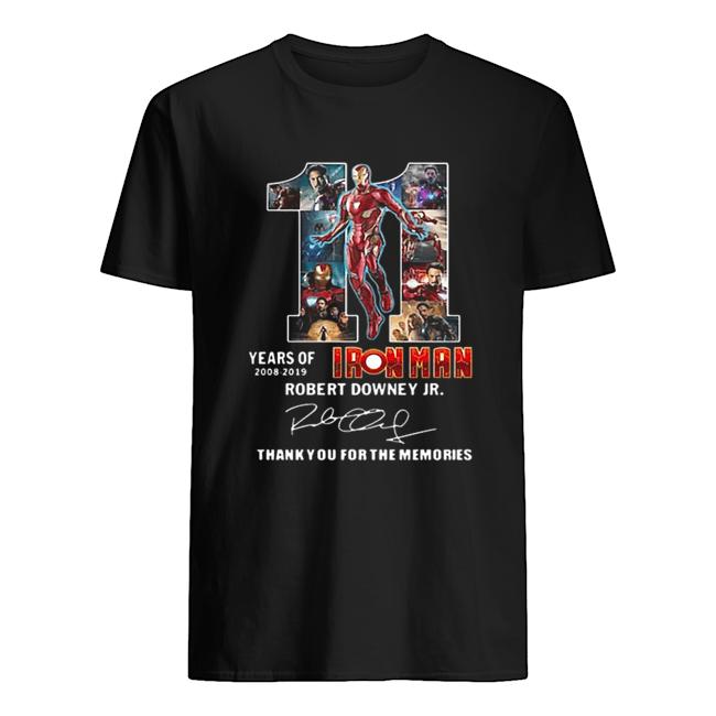 11-years-of-iron-man-2008-2019-robert-downey-jr-signature-classic-mens-t-shirt-1