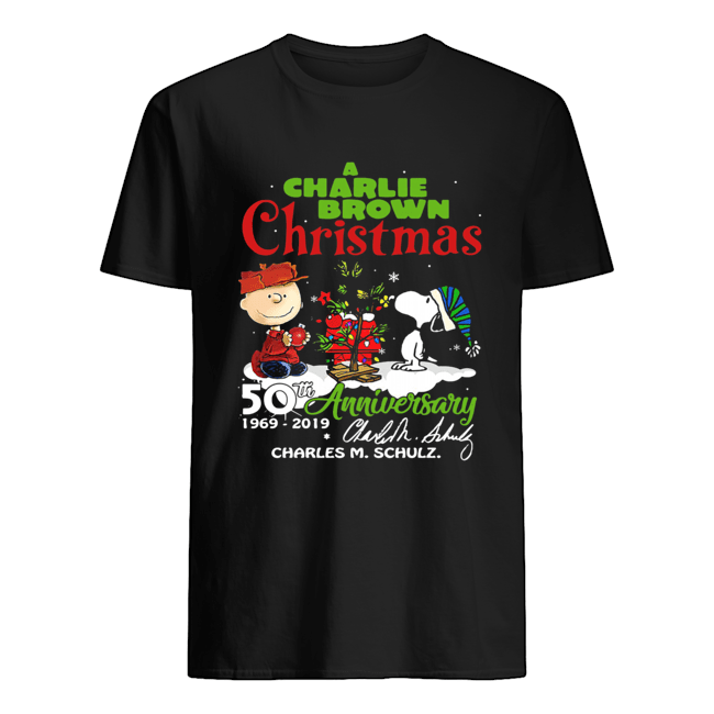 a-charlie-brown-christmas-50th-anniversary-1969-2019-signature-shirt-classic-mens-t-shirt-1
