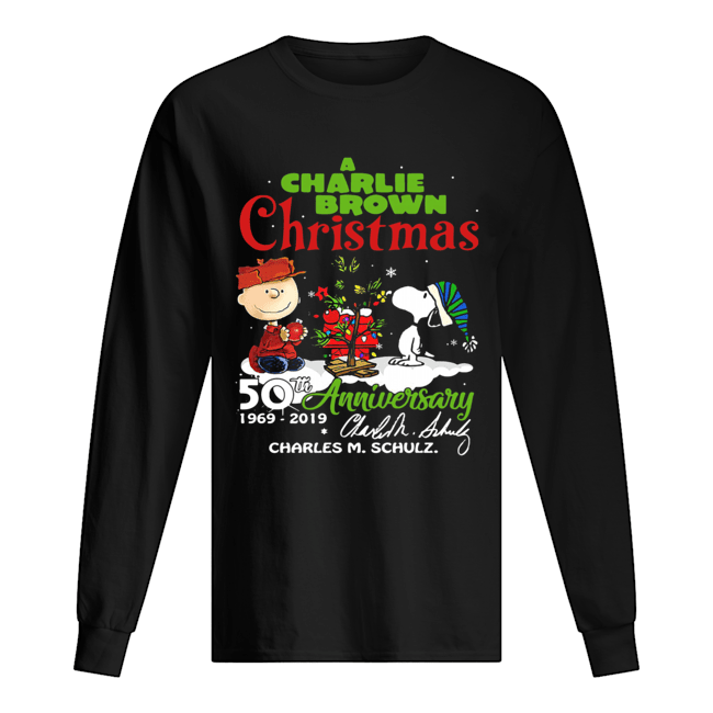 A Charlie Brown Christmas 50th Anniversary 1969-2019 Signature Shirt Long Sleeved T-shirt