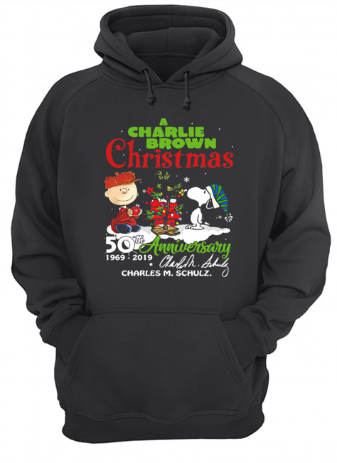A Charlie Brown Christmas 50th Anniversary 1969-2019 Signature Shirt Unisex Hoodie