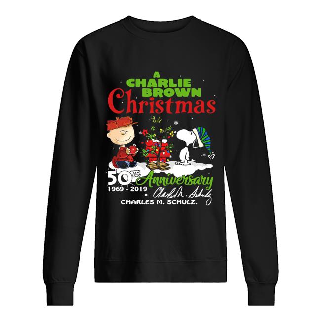 A Charlie Brown Christmas 50th Anniversary 1969-2019 Signature Shirt Unisex Sweatshirt