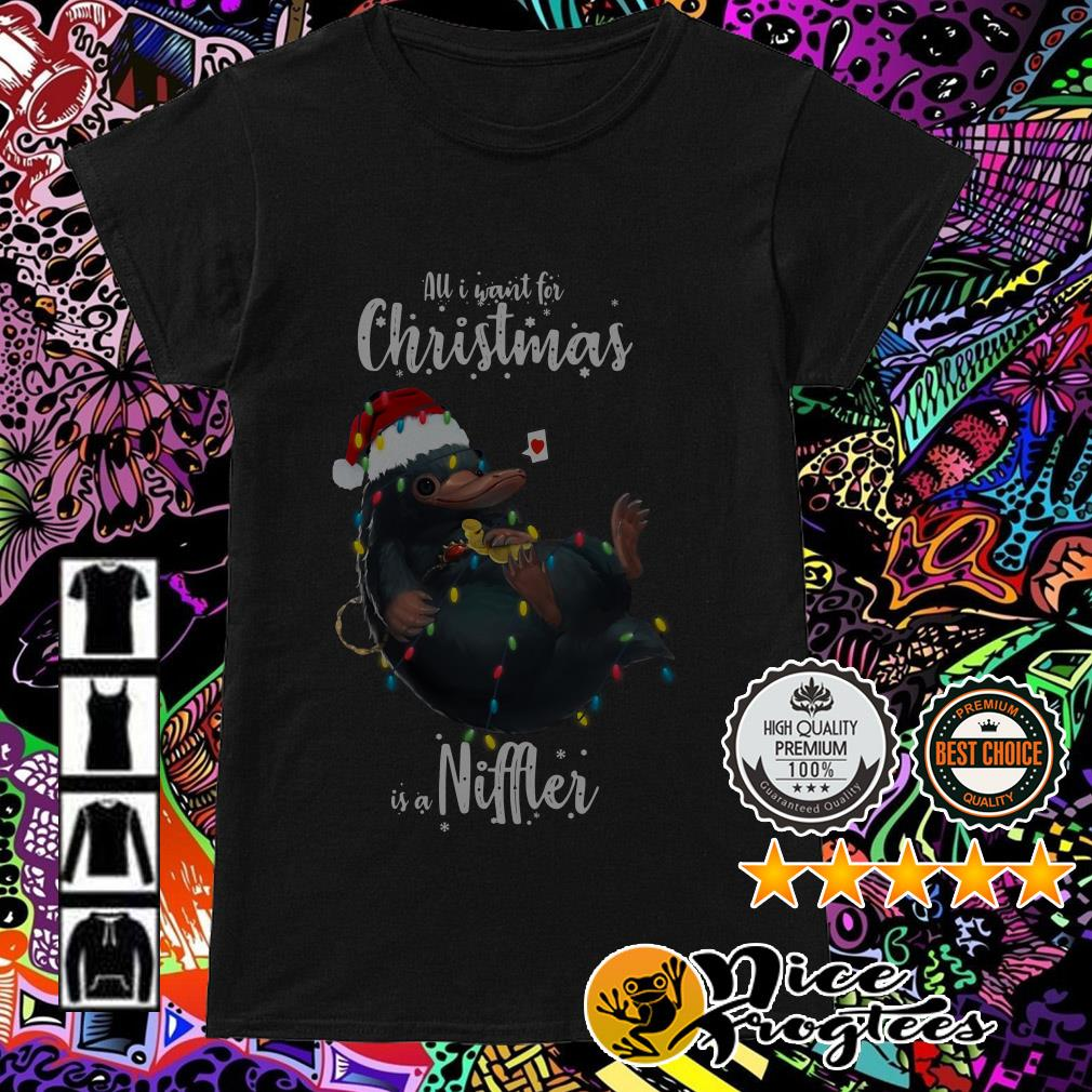 All I want for Christmas is a Niffler Ladies Tee