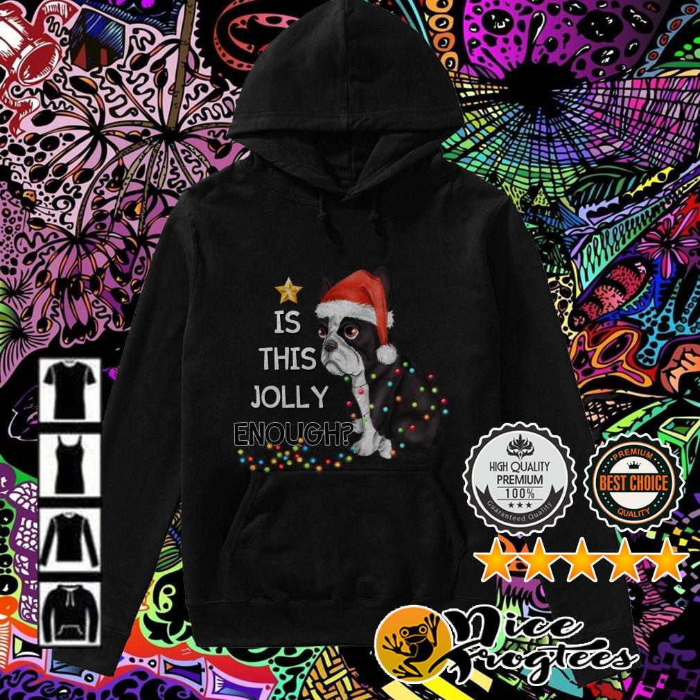 Bulldog is this Jolly enough Christmas Hoodie
