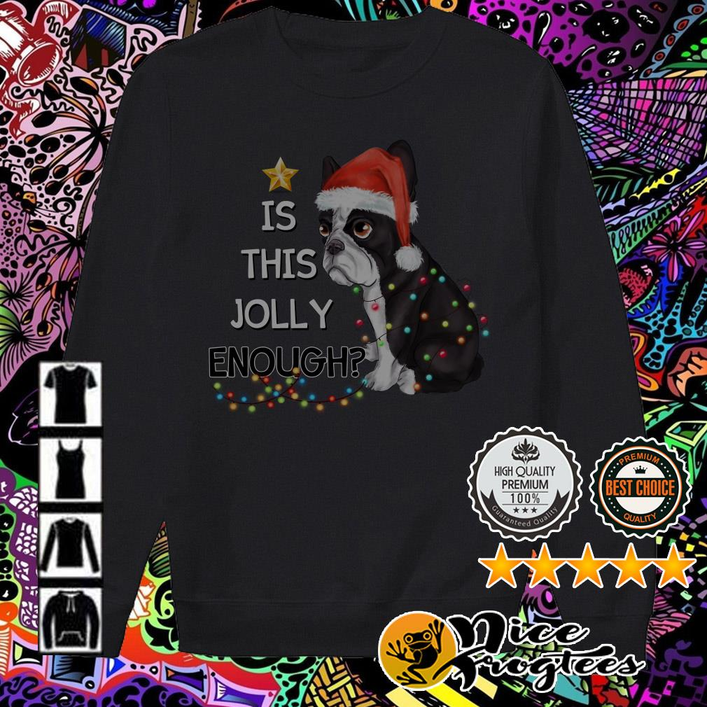 Bulldog is this Jolly enough Christmas Sweater