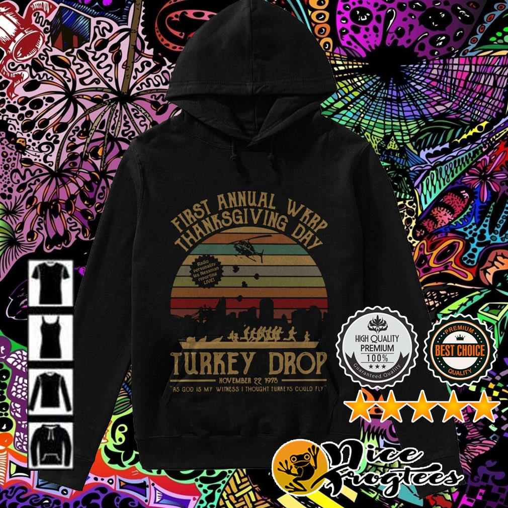 First Annual WKRP thanksgiving day turkey drop sunset Hoodie