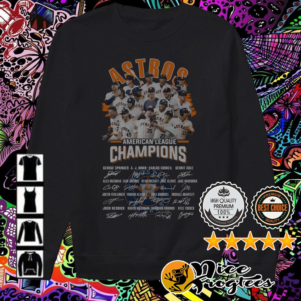 Houston Astros American League Champions signatures Sweater