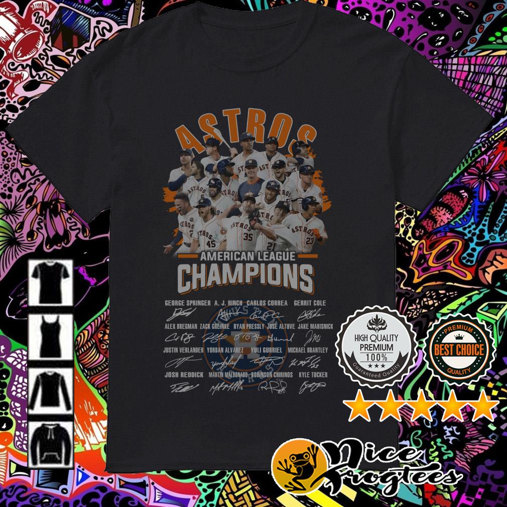 Houston Astros American League Champions signatures shirt