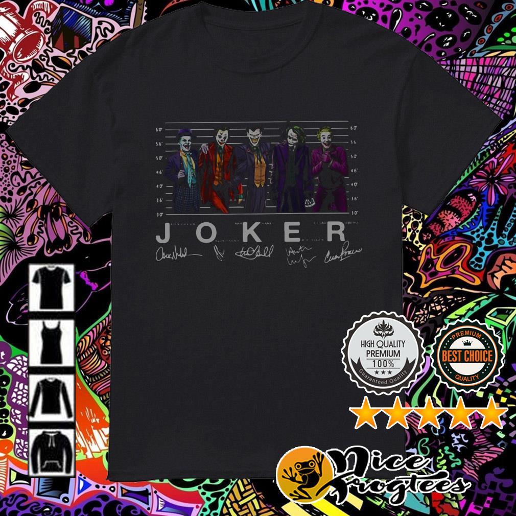 Joker Jack Nicholson Joaquin Phoenix Mark Hamill Heath Ledger signatures shirt