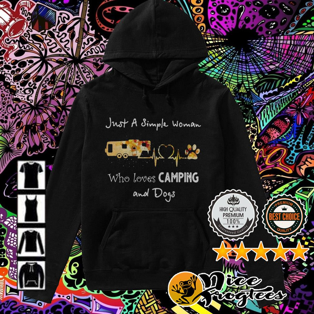 Just a simple woman who love camping and dogs Hoodie