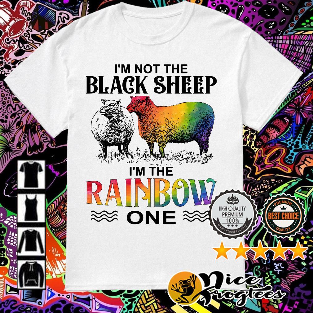 LGBT I'm not the black sheep I'm the rainbow one shirt