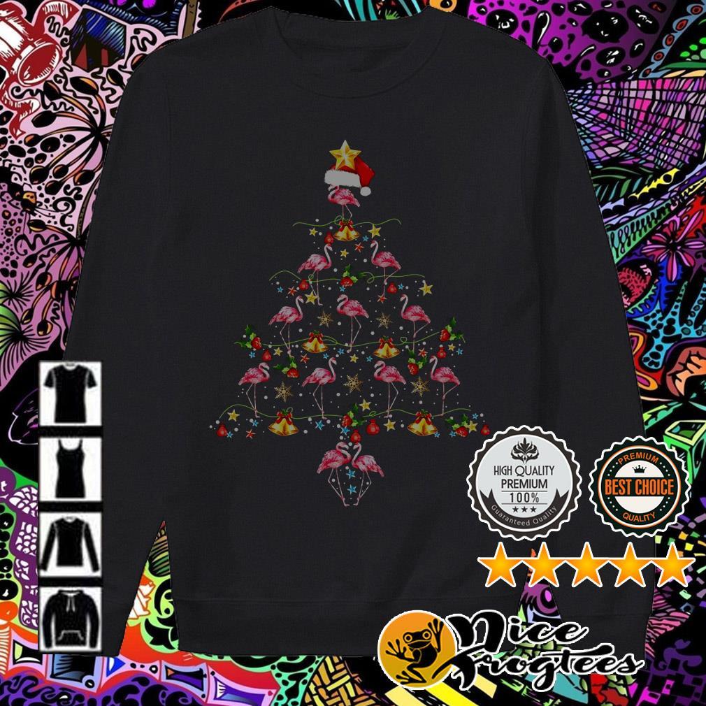 Merry Christmas Flamingos Christmas tree sweater