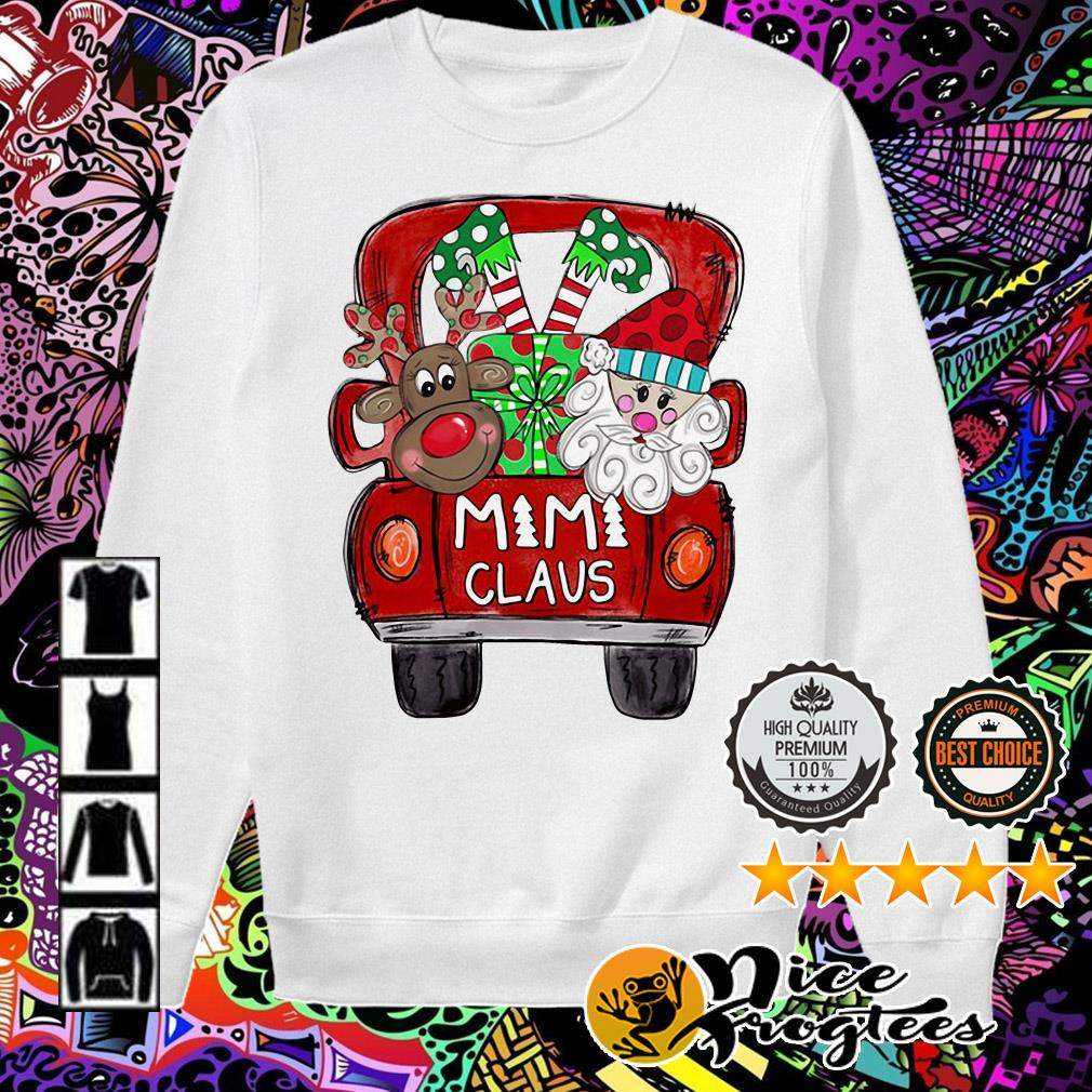 Merry Christmas Red car and gift Mimi Claus Sweater