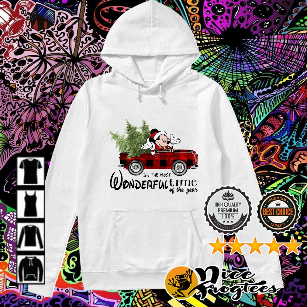 Mickey Mouse driving car it's the most wonderful time of the year Christmas Hoodie