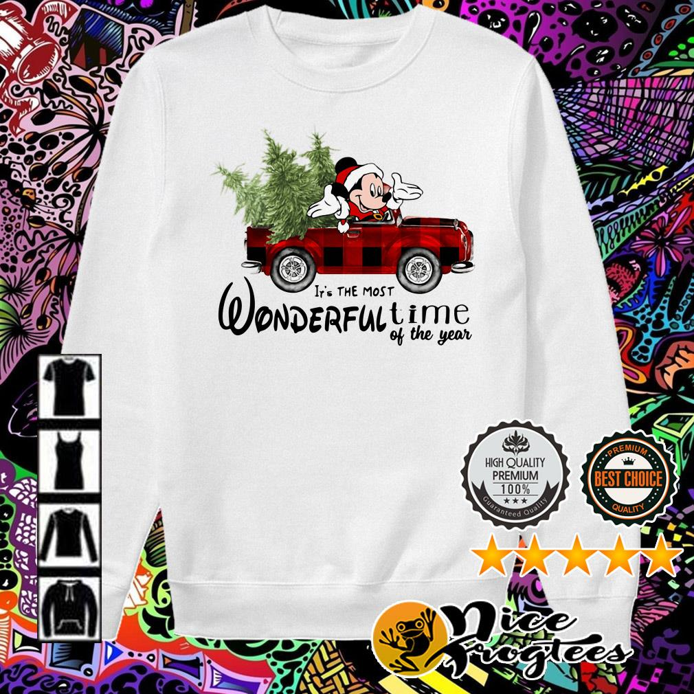 Mickey Mouse driving car it's the most wonderful time of the year Christmas sweater