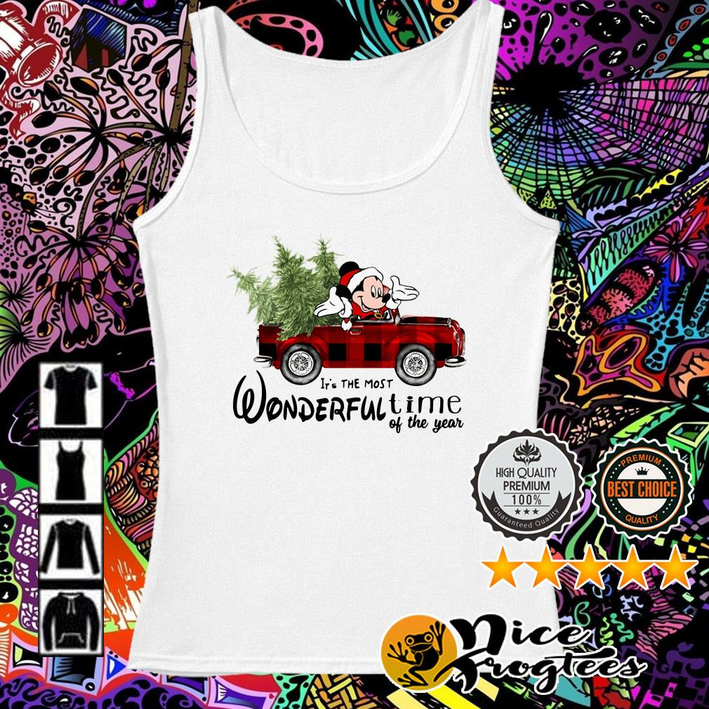 Mickey Mouse driving car it's the most wonderful time of the year Christmas Tank top