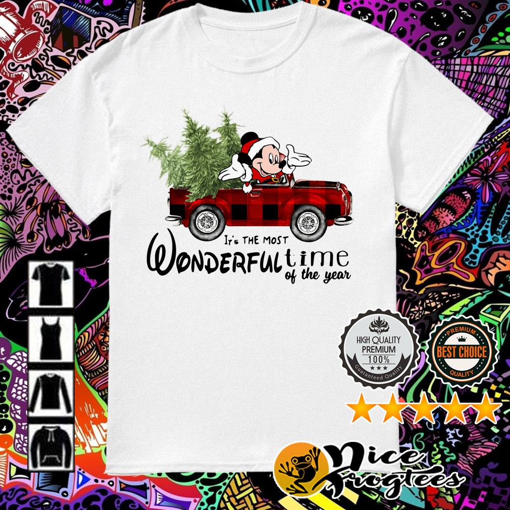 Mickey Mouse driving car it's the most wonderful time of the year Christmas shirt