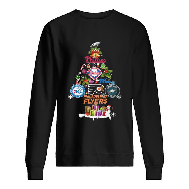 Philadelphia Flyers Christmas Tree Shirt Unisex Sweatshirt