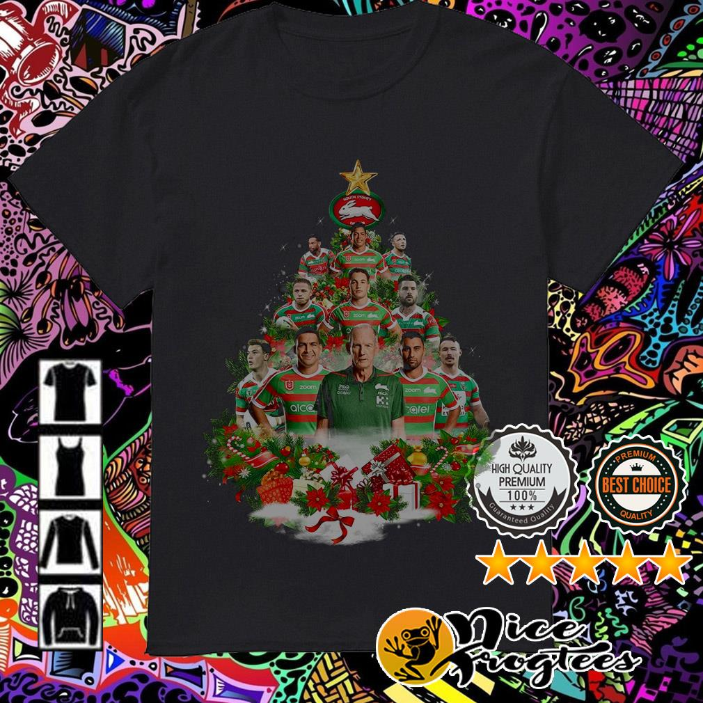 South Sydney Rabbitohs team players Christmas tree shirt