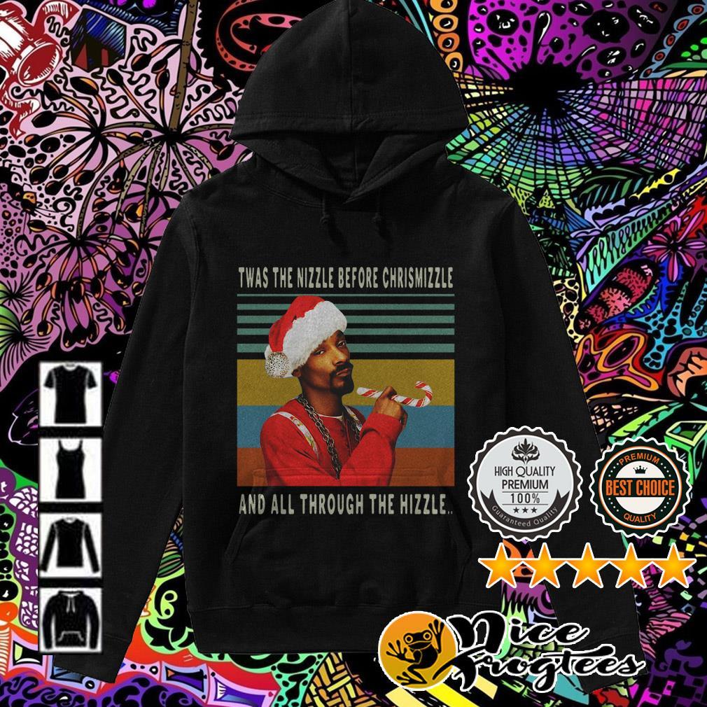 Vintage Snoop Dogg Twas the nizzle before Christmizzle Hoodie