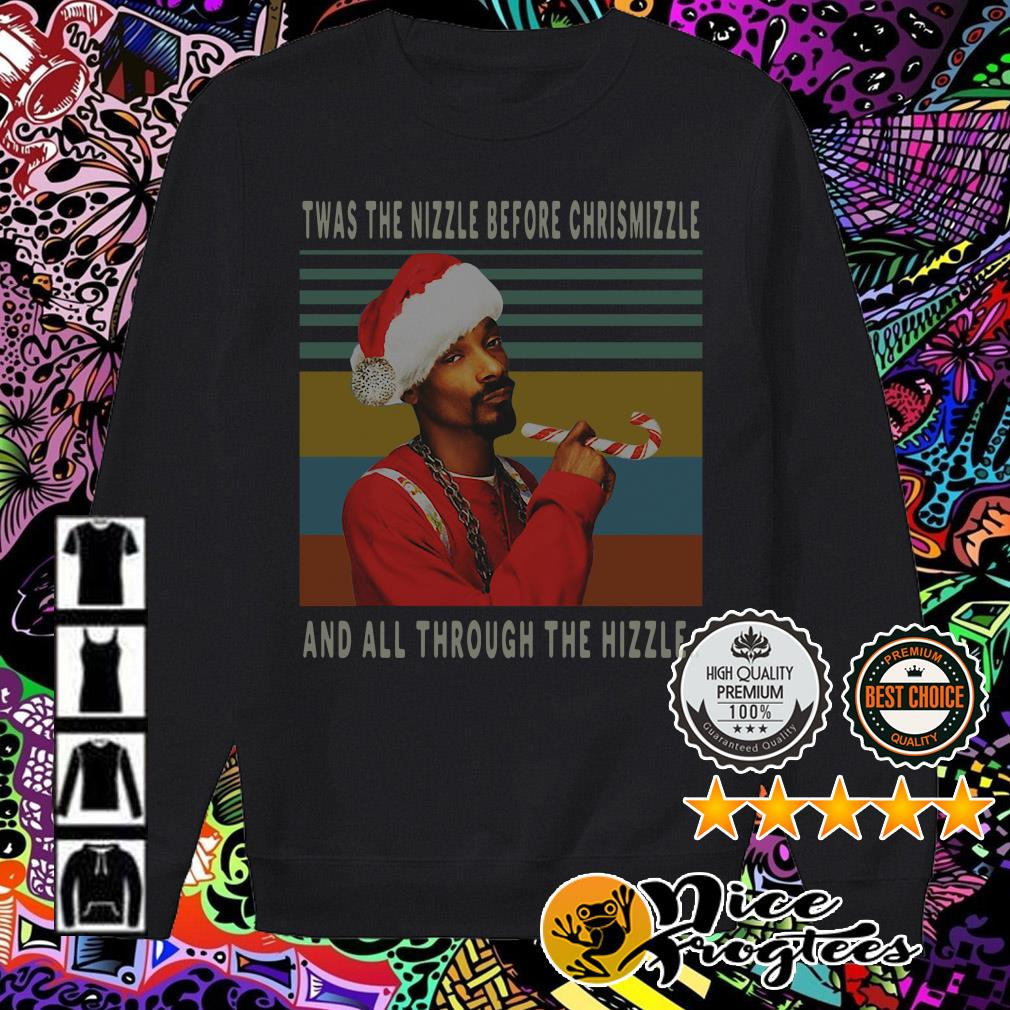 Vintage Snoop Dogg Twas the nizzle before Christmizzle Sweater